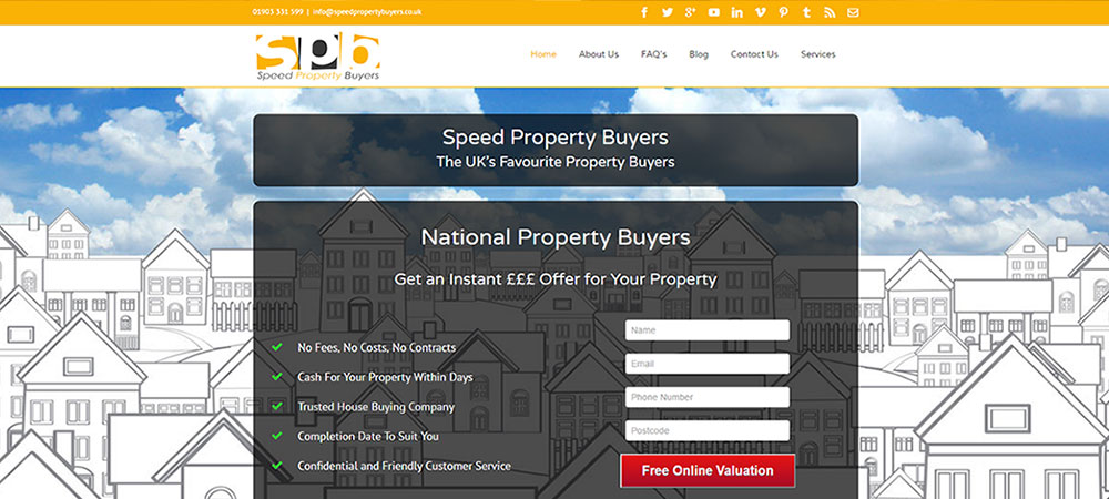 Speed Property Buyers All New Website Launched!