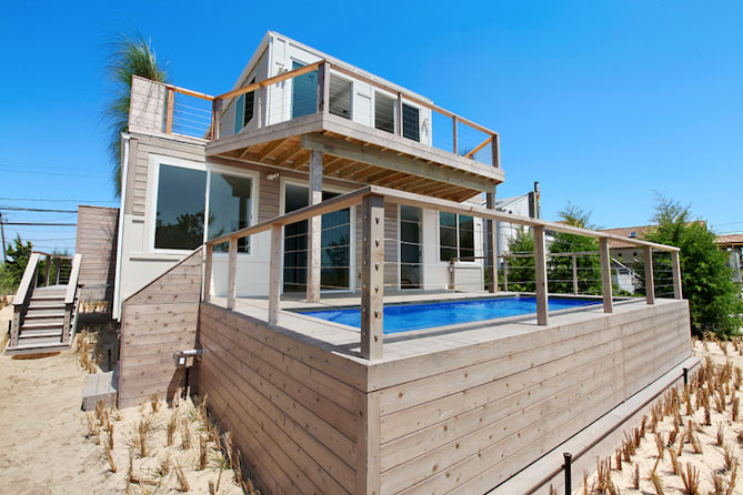 beach house container home front
