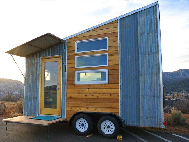 front of tiny home