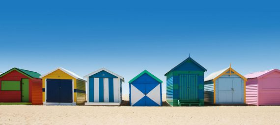 Luxury beach huts