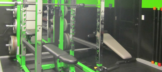 The Best Home Gyms - Lime Green Home Garage Gym