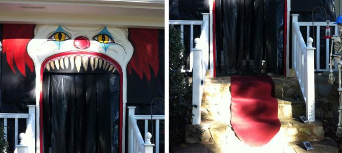 Halloween Clown House Entrance