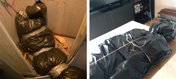 Halloween Fake Dead Body In Shower