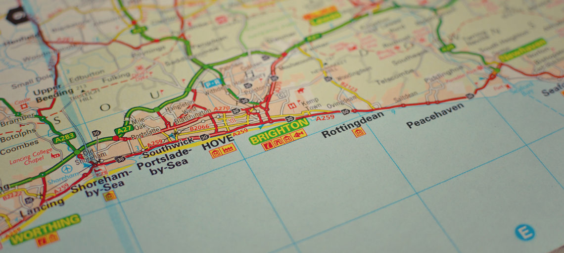 Hove on a map.
