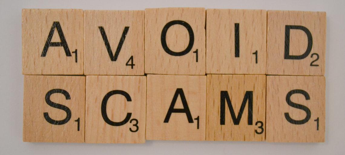 Avoid Scams Scrabble