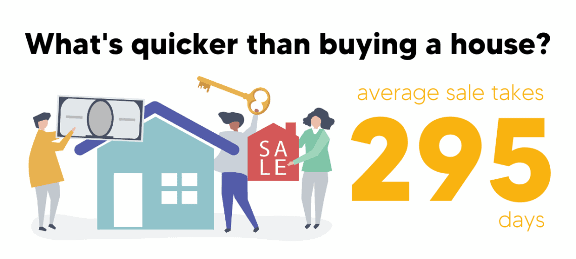 What's quicker than buying a house